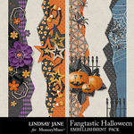 Fangtastic Halloween LJ Borders Pack-$1.99 (Lindsay Jane)