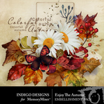 Enjoy the Autumn Embellishment Pack-$4.99 (Indigo Designs)