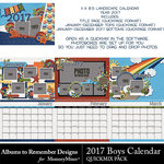 2017 Boys Calendar-$8.99 (Albums to Remember)