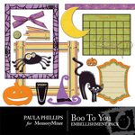 Boo to You Embellishment Pack-$3.50 (Paula Phillips)
