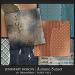 Autumn Sunset Cardboard Paper Pack-$3.99 (Jumpstart Designs)