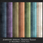Autumn Sunset Plain Paper Pack-$3.99 (Jumpstart Designs)