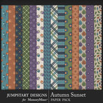 Autumn Sunset Patterned Paper Pack-$3.99 (Jumpstart Designs)