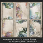 Autumn Sunset Journal Art Cards Pack-$2.49 (Jumpstart Designs)
