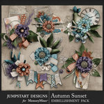 Autumn Sunset Clusters Pack-$3.99 (Jumpstart Designs)