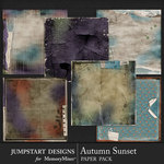 Autumn Sunset Torn Paper Pack-$3.99 (Jumpstart Designs)