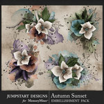 Autumn Sunset Art Clusters Pack-$3.99 (Jumpstart Designs)