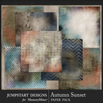 Autumn Sunset Artsy Paper Pack-$3.99 (Jumpstart Designs)