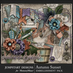 Autumn Sunset Embellishment Pack-$6.99 (Jumpstart Designs)