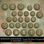 Leave No Door Unopened Alphabet Pack-$1.99 (Laura Burger)