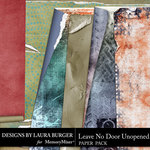 Leave No Door Unopened Torn Papers-$3.99 (Laura Burger)