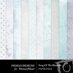 Song of the Bluebells Paper Pack-$3.49 (Indigo Designs)