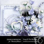 Song of the Bluebells Embellishments-$4.99 (Indigo Designs)