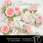 Just Beautiful Cluster Pack-$3.49 (Indigo Designs)