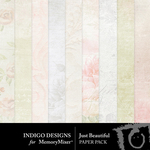 Just Beautiful Paper Pack-$3.49 (Indigo Designs)