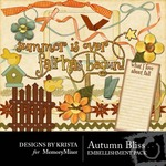 Autumn Bliss Embellishment Pack-$3.00 (Designs by Krista)