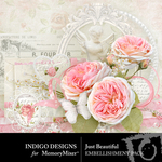 Just Beautiful Embellishment Pack-$4.99 (Indigo Designs)