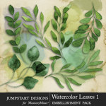 Watercolor Leaves 1-$4.99 (Jumpstart Designs)