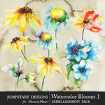 Watercolor Blooms 1-$4.99 (Jumpstart Designs)