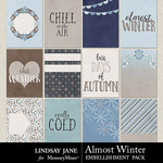 Almost Winter Journal Cards-$1.99 (Lindsay Jane)