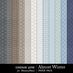 Almost Winter Pattern Paper Pack-$1.99 (Lindsay Jane)