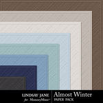 Almost Winter Embossed Paper Pack-$1.99 (Lindsay Jane)