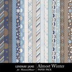 Almost Winter Paper Pack-$2.49 (Lindsay Jane)