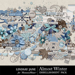 Almost Winter Embellishment Pack-$3.49 (Lindsay Jane)