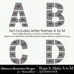 Shape It Alpha A to M QM-$7.49 (Albums to Remember)