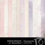 Charming Lilac Paper Pack-$3.49 (Indigo Designs)