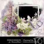 Charming Lilac Embellishment Pack-$4.99 (Indigo Designs)
