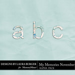 My Memories November Alphabet Pack-$1.99 (Laura Burger)