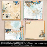 My Memories November Stacked Papers-$4.99 (Laura Burger)