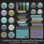 Jumpstart Your December Flairs Pack-$3.99 (Jumpstart Designs)