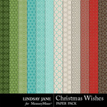 Christmas Wishes LJ Pattern Paper Pack-$1.40 (Lindsay Jane)