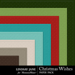 Christmas Wishes LJ Embossed Paper Pack-$1.40 (Lindsay Jane)