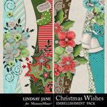 Christmas Wishes LJ Border Pack-$1.40 (Lindsay Jane)