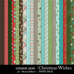 Christmas Wishes LJ Paper Pack-$1.75 (Lindsay Jane)