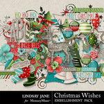 Christmas Wishes LJ Embellishment Pack-$3.49 (Lindsay Jane)