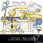 Rain or Shine Embellishment Pack-$2.99 (Julie Klaus)