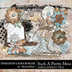 Such A Pretty Mess Add On Embellishments-$4.99 (Laura Burger)