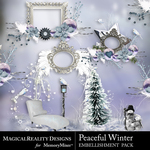 Peaceful Winter Cluster Pack 2-$3.49 (MagicalReality Designs)