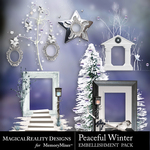 Peaceful Winter Cluster Pack 1-$3.49 (MagicalReality Designs)