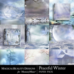 Peaceful Winter Paper Pack-$4.99 (MagicalReality Designs)