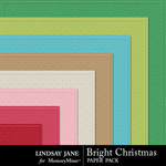 Bright Christmas Embossed Papers Pack-$1.99 (Lindsay Jane)