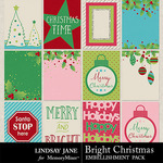 Bright Christmas Journal Cards-$1.99 (Lindsay Jane)