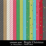Bright Christmas Glitter Papers Pack-$1.99 (Lindsay Jane)