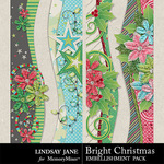 Bright Christmas Borders Pack-$1.99 (Lindsay Jane)