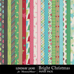 Bright Christmas Paper Pack-$2.49 (Lindsay Jane)
