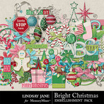 Bright Christmas Embellishment Pack-$3.49 (Lindsay Jane)